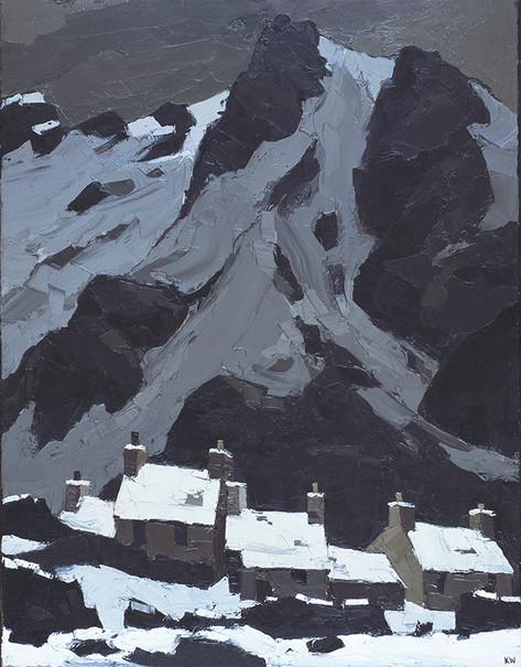 Snow at Gwastadnant, 1966