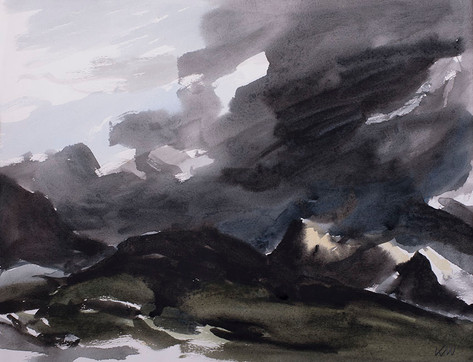 Storm Clouds over Snowdon, 1987