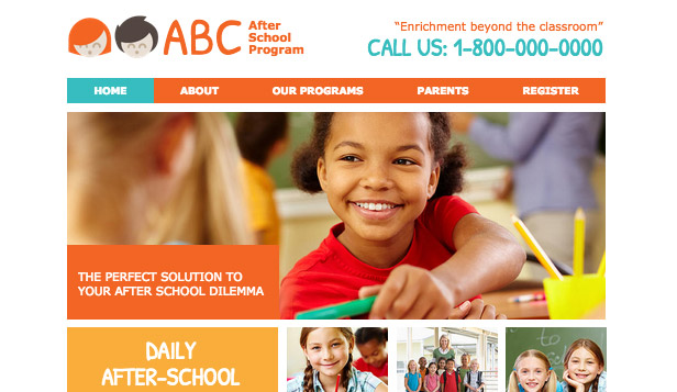 Community & Education website templates – After School Program