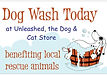 Unleashed Charity Dog Wash Sign