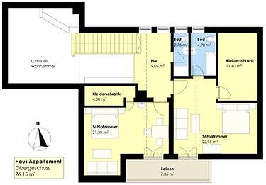 Hausappartement Dachgeschoss