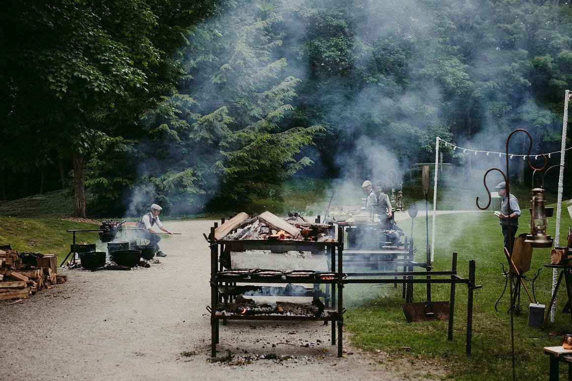 Heirloom Fire Jim Gop Lamb Roast berkshire wedding caterer