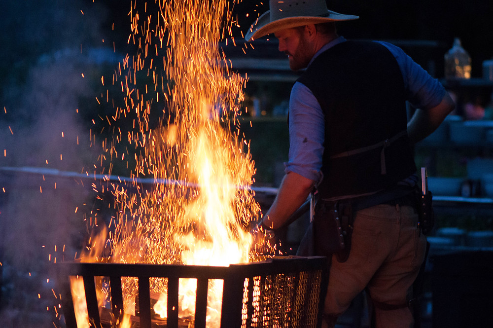 fire cooking outdoor weddings in the berkshires