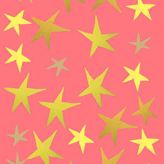 gold and pink stars