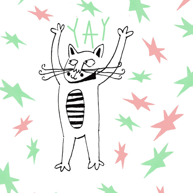 'kitty jump for joy'