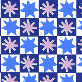 repeat pattern stars navy blue