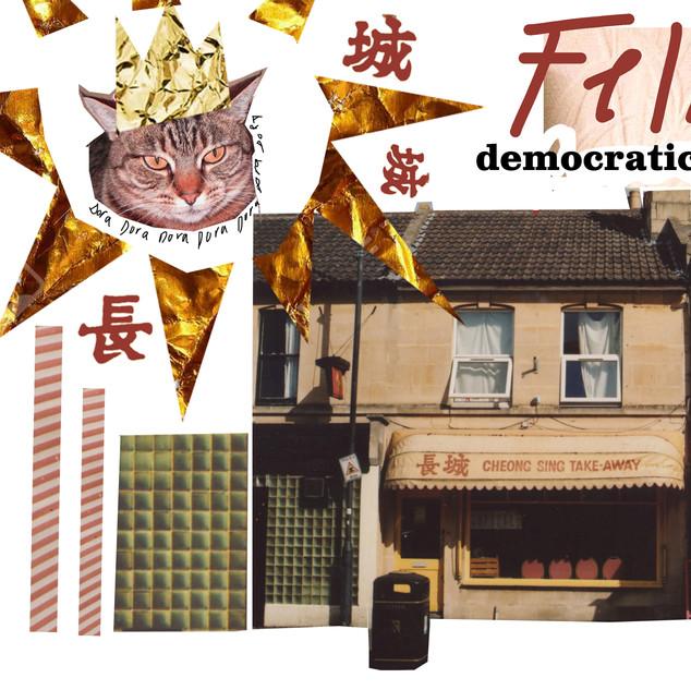'feline democratic dominium' collage