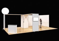 Stand modulaire sans murs