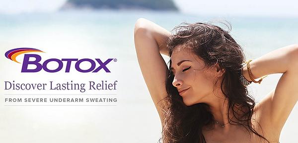 Botox treats hyperhidrosis