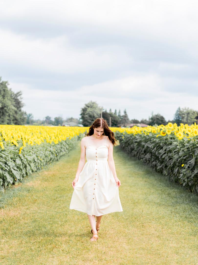 Rachel in the Sunflowers