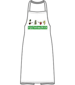 Vegetarian Apron 'Vegetarians Rock'