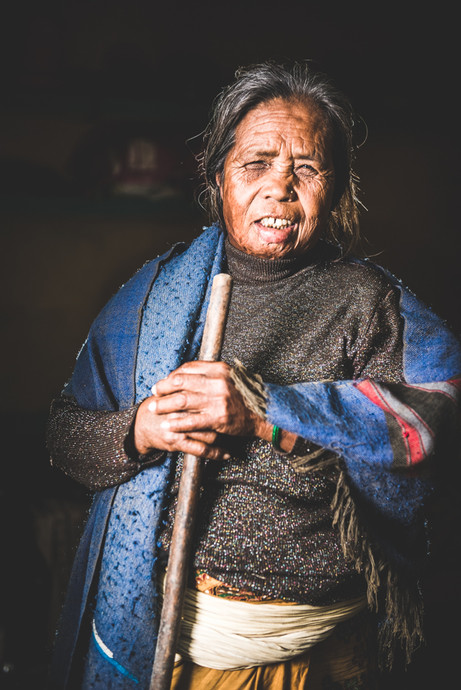 Portrait of a Nepalese woman