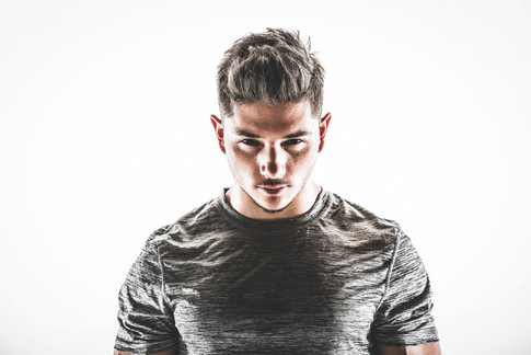 Studio portrait of athletic man