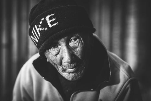 Portrait of a Gurkha veteran