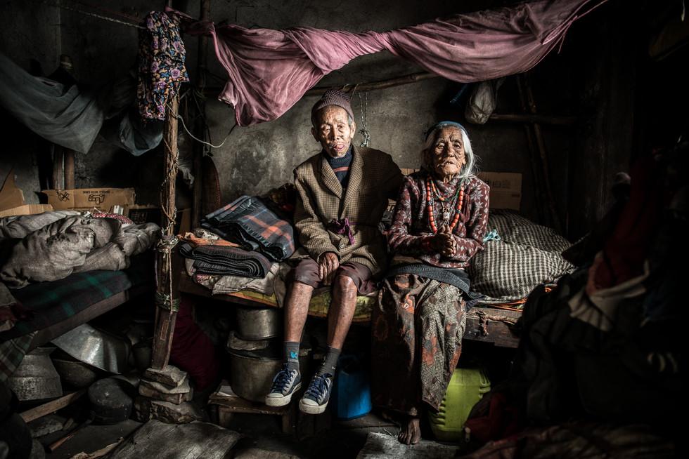 Portrait of a Gurkha veteran and his wife