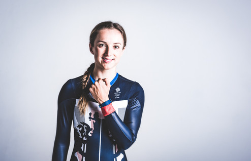 Studio portrait of Olympic athlete Elinor Barker