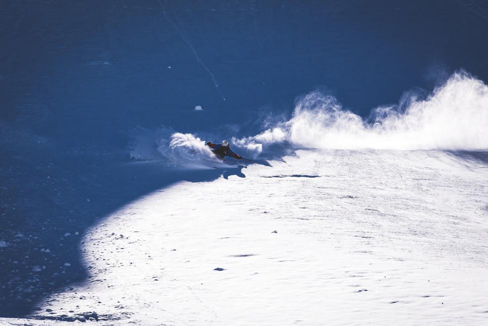 Snowboarder on mountain