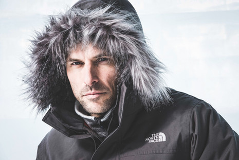 Portrait of a man in a North Face jacket