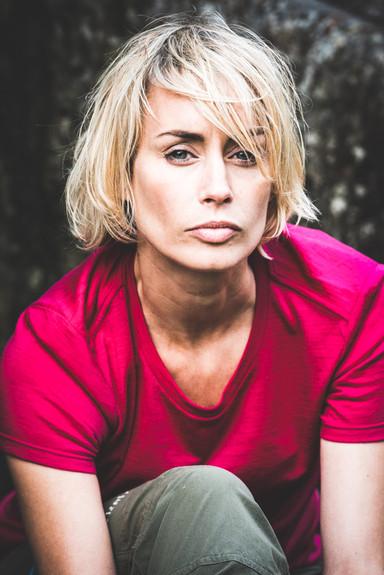 Portrait of a woman in outdoor gear
