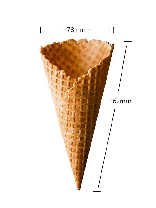 large waffle cone
