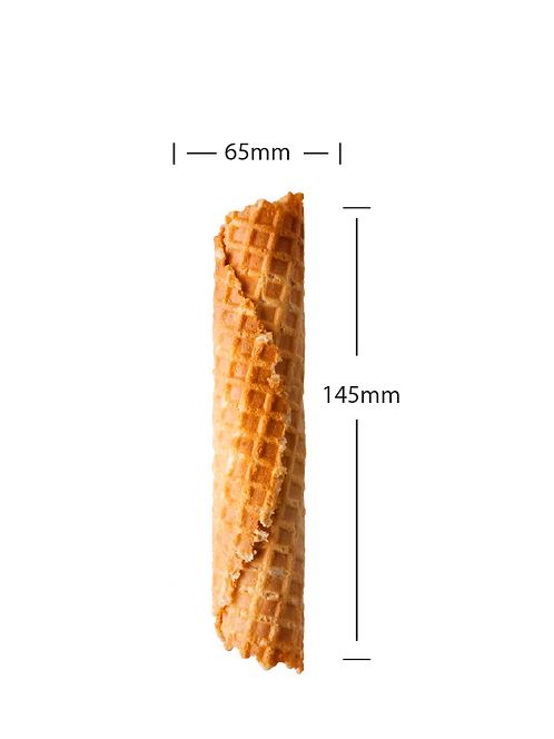 Waffle roll with dimensions