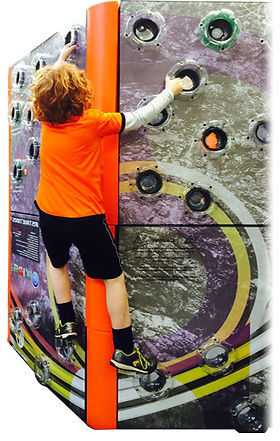 Rugged Interactive TrailBlazer Traverse reaction climbing wall for climbing centres, play areas, trampoline parks and free jumping as seen on Dragons Den