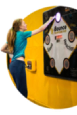 Rugged Interactive CardioWall FreeStyle reaction wall for trampoline parks and free jumping centres as seen on Dragons Den