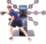 Rugged Interactive CardioWall Pro-X Club reaction trainer machine for gyms, health clubs and hotels as seen on Dragons Den