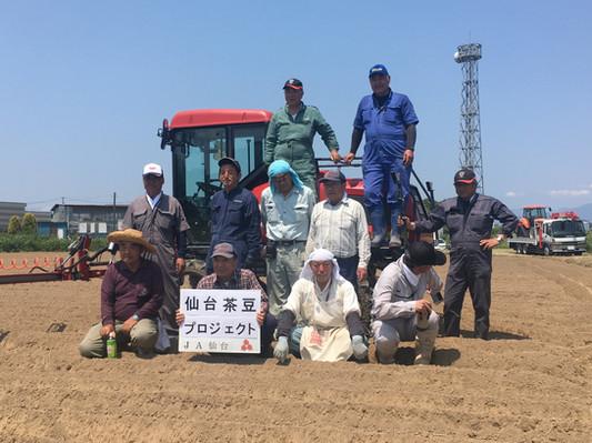農事組合法人泉の皆さん(仙台茶豆生産者)