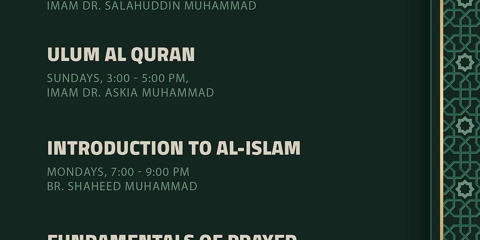 Masjidullah Islamic Studies Institute Classes