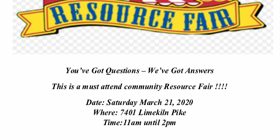 You've Got Questions – We've Got Answers Community Resource Fair !