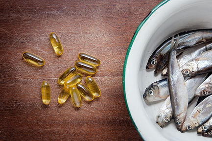fish in white enamel bowl iron and vitam