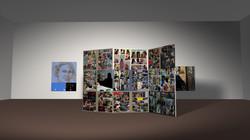 room4 book paintings + column
