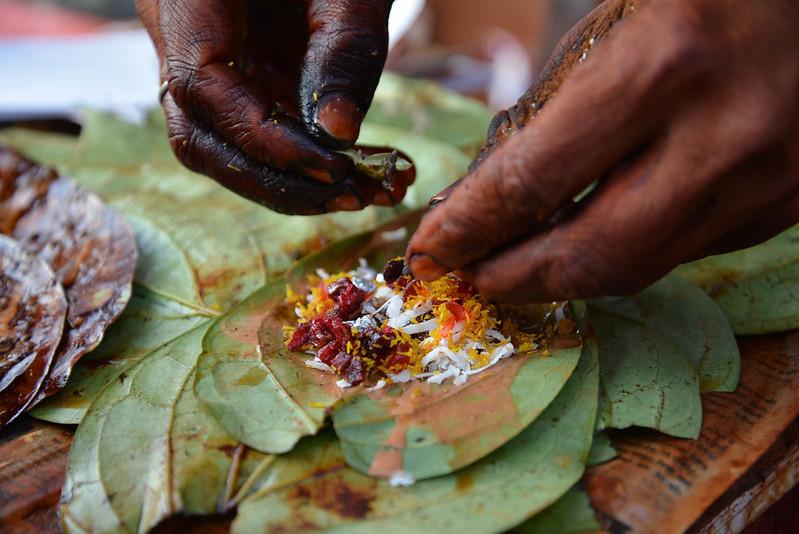 Betel leaf snack