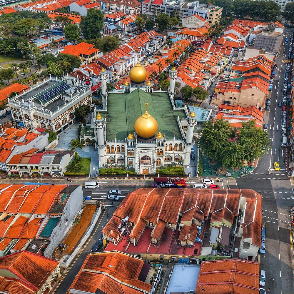 Aerial view of Masjid Sultan.