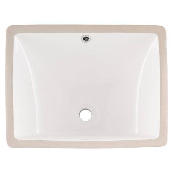 Vanity / Single Bowl / White / Porcelain / 10x15