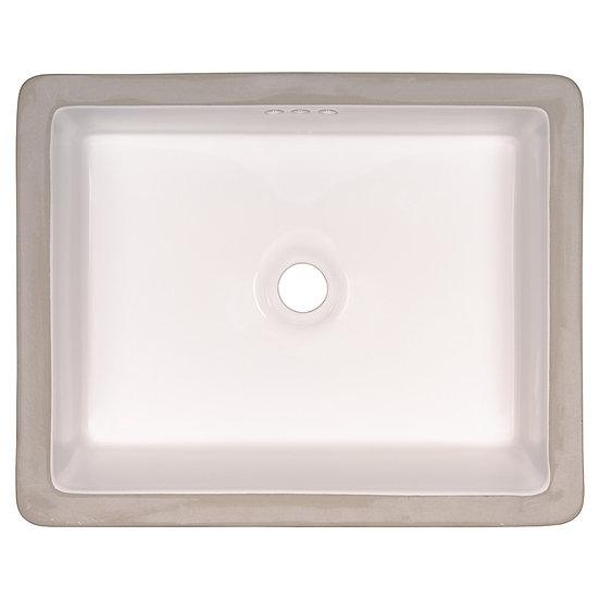Vanity / Single Bowl / White / Porcelain / Flat / 20x15
