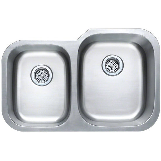 Stainless Steel / Double Bowl / 40x60 / 31x20 / Square