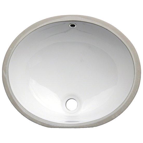 Vanity / Single Bowl / White / Porcelain / 15x12