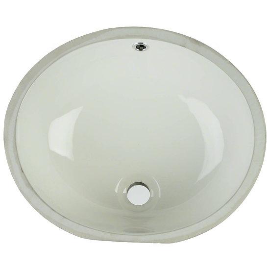 Vanity / Single Bowl / Bisque / Porcelain / 17x14