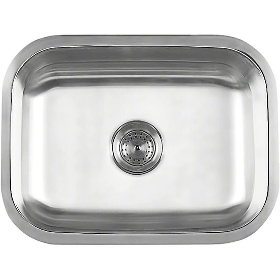 Stainless Steel / Single Bowl / 23x17