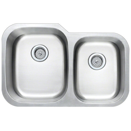 Stainless Steel / Double Bowl / 60x40 / 31x20 / Square