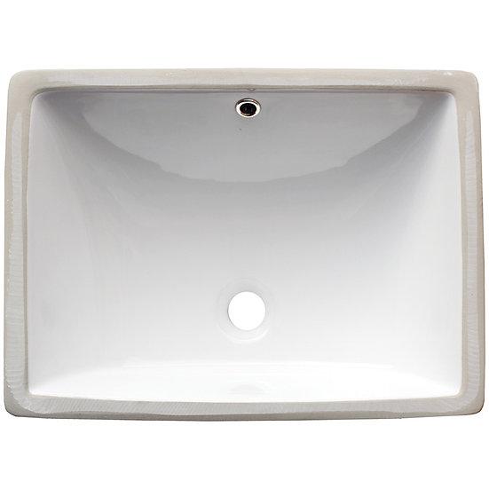 Vanity / Single Bowl / White / Porcelain / 18x13