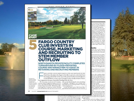 PGA Magazine Cover Story - Fargo Country Club and Creative Golf Marketing