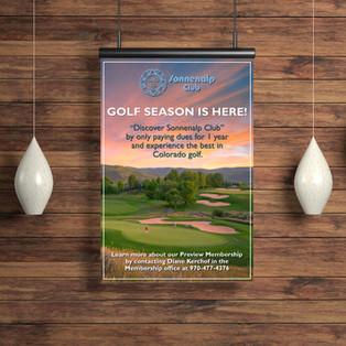 Membership Marketing Poster for Sonnenalp Club