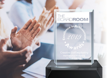 """""""Membership Marketing Firm of the Year"""" - Excellence in Achievement Award for 2019"""