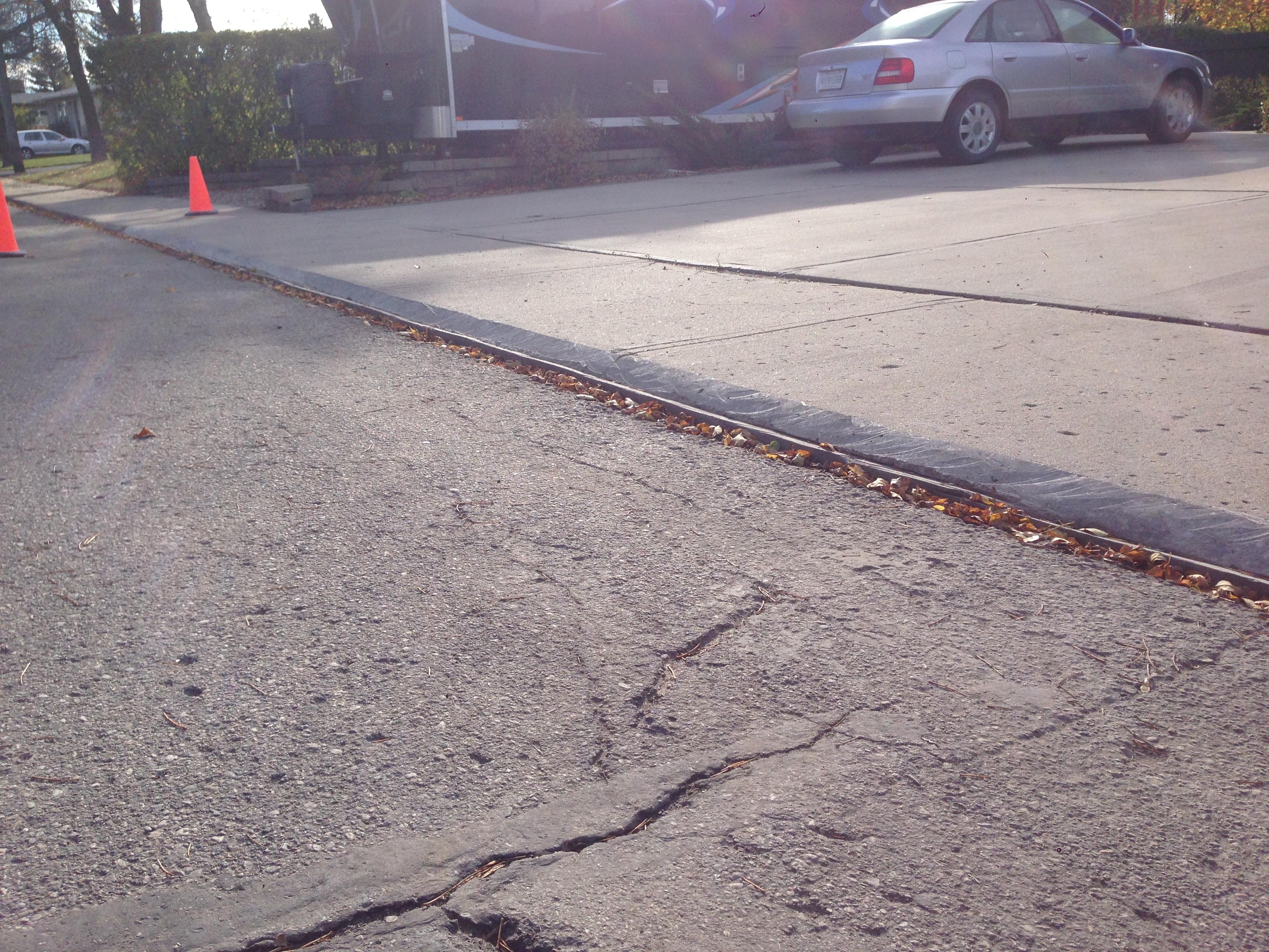 Repair driveway before