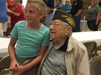 100 Year Old WWII Veteran, Kenneth Snavely Visits the National Home for the First Time.