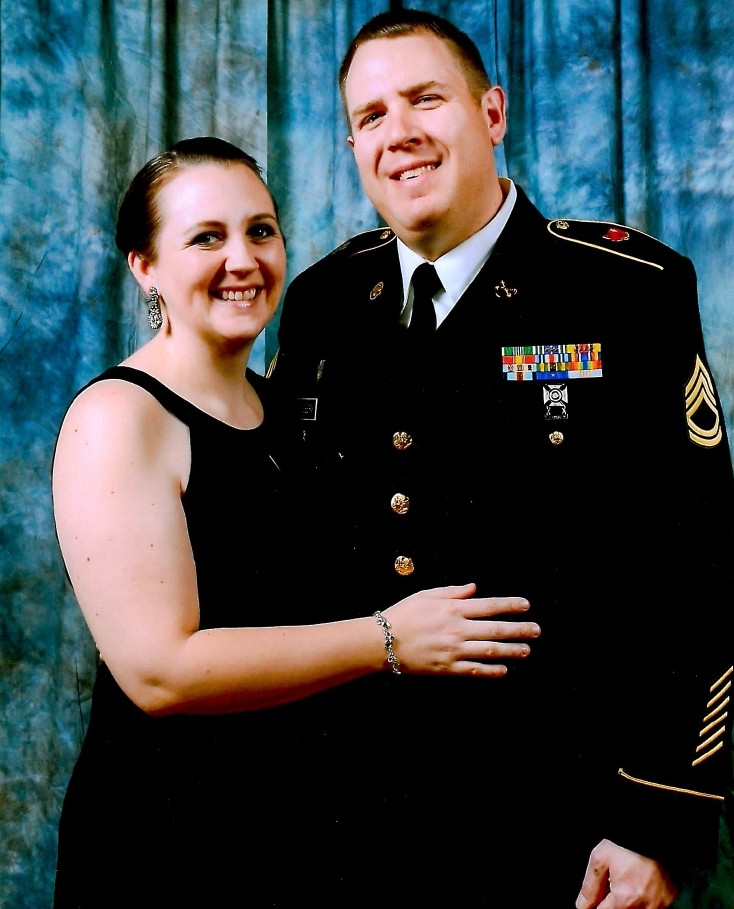 Laura and husband, Mike at a Non-Commissioned Officer's Ball