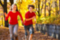 Boy and Girl Running